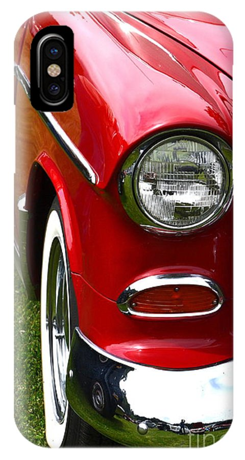 IPhone X Case featuring the photograph Red And White 50's Chevy by Dean Ferreira