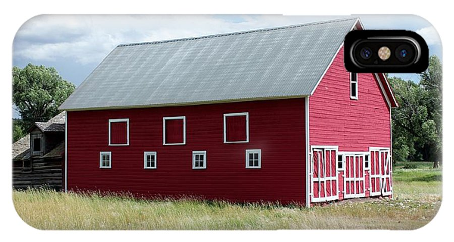 Farm IPhone X Case featuring the photograph Red And White Barn by Nelson Skinner