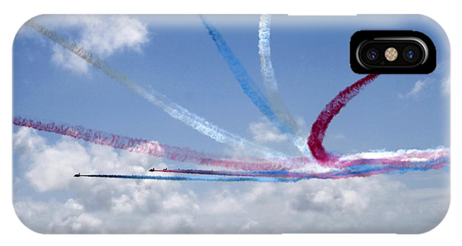 Accuracy Accurate Aerial Aerobatic Aeronautic Agile Agility Air IPhone X Case featuring the photograph Red Arrows Aerobatic Display Team by Steve Ball