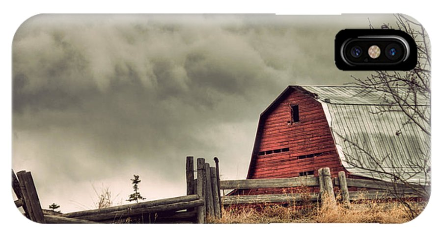 Red IPhone X Case featuring the photograph Red Barn by Danielle Mattson