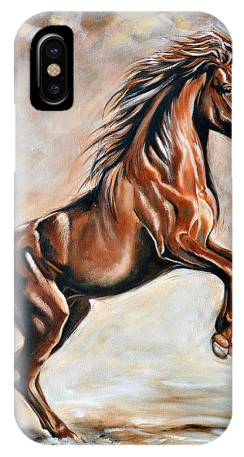 Horse IPhone Case featuring the painting Red Beauty by Ilse Kleyn