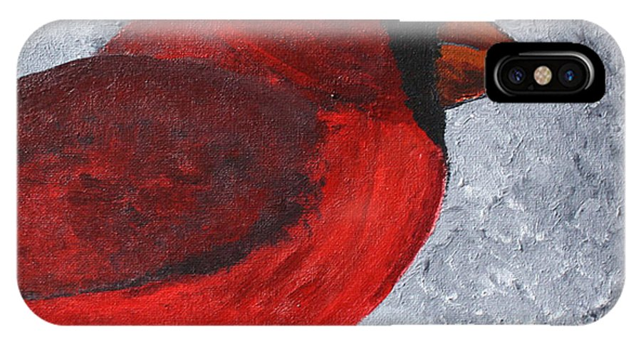 Cardinal IPhone X / XS Case featuring the painting Red Bird by Wendy May