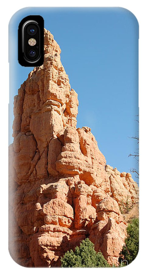 Red Canyon IPhone X Case featuring the photograph Red Canyon Rock Formation by Debra Thompson