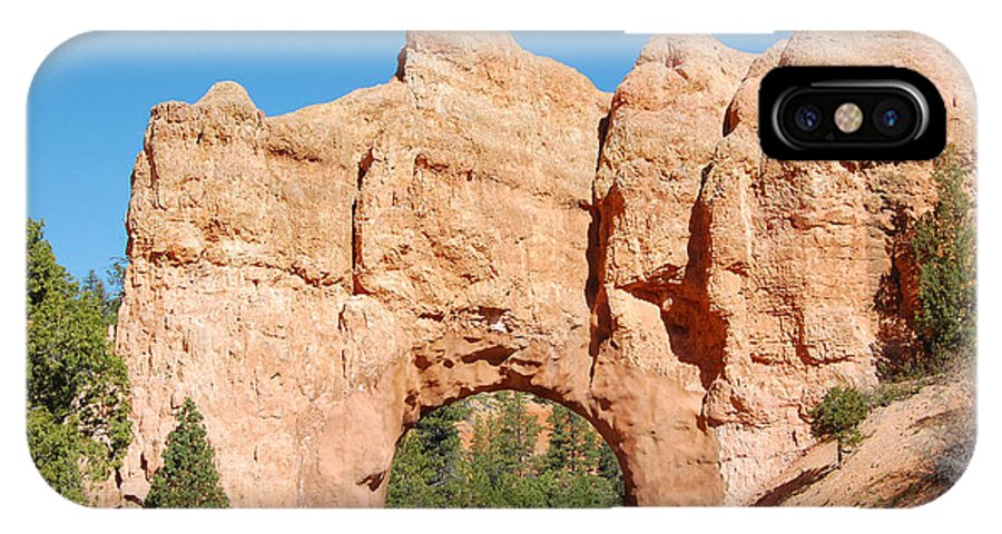 Red Canyon IPhone X / XS Case featuring the photograph Red Canyon Tunnel by Debra Thompson