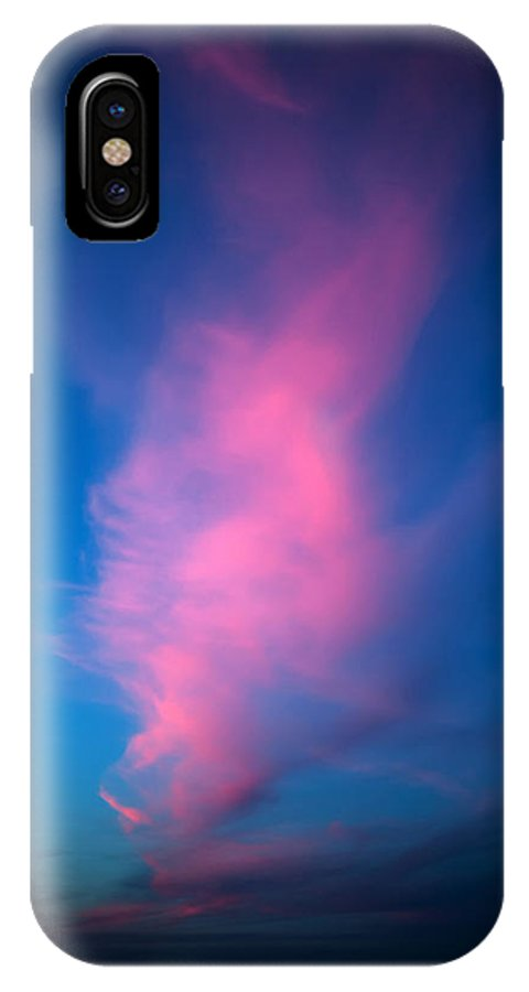 Cloud IPhone X Case featuring the photograph Red Cloud by Pino Perrotta