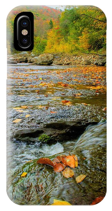 Landscape IPhone X / XS Case featuring the photograph Red Creek by Jason Funk