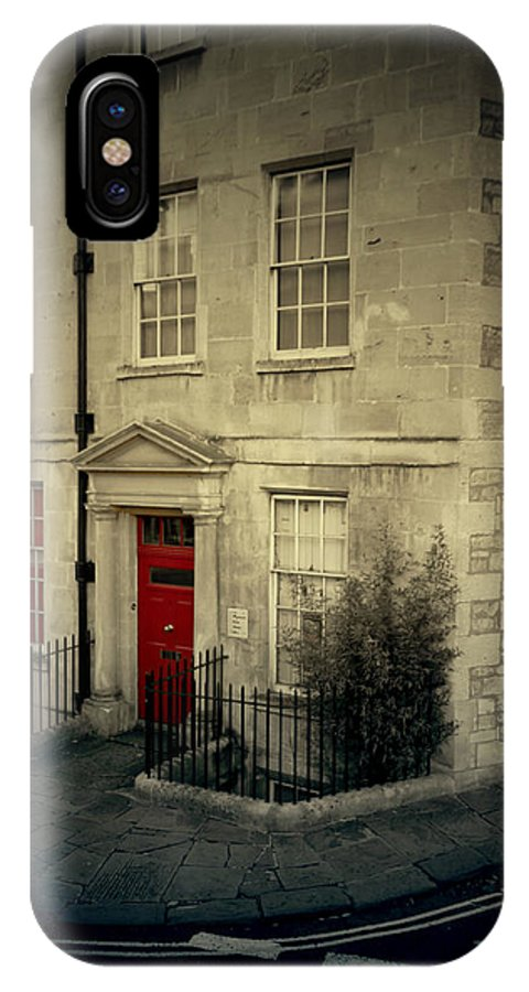 Red Door IPhone X Case featuring the photograph Red Door by Danielle Mattson