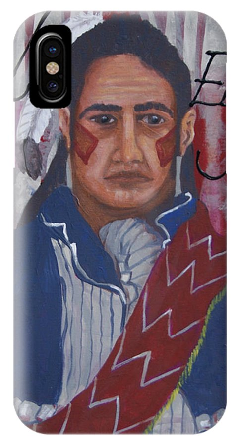 Red Eagle; William Weatherford; Creek Indians; War Of 1812; Battle Of Talladega; Trail Of Tears; Alabama Artists; Redstick Indians; Native Americans Of Alabama IPhone X Case featuring the painting Red Eagle by Debora Baxter Jackson