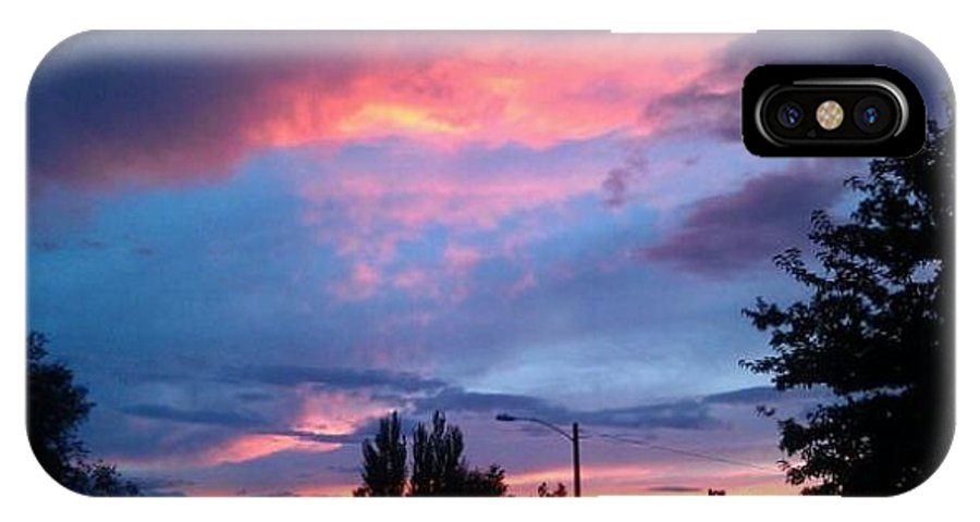 Red IPhone X Case featuring the photograph Red Evening Arizona Sky by Frederick Holiday