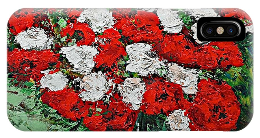 Landscape IPhone Case featuring the painting Red Explosion by Allan P Friedlander
