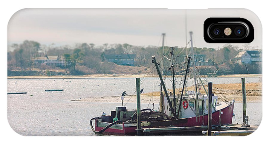 Fishing IPhone X Case featuring the photograph Red Fishing Boat by Elizabeth Thomas
