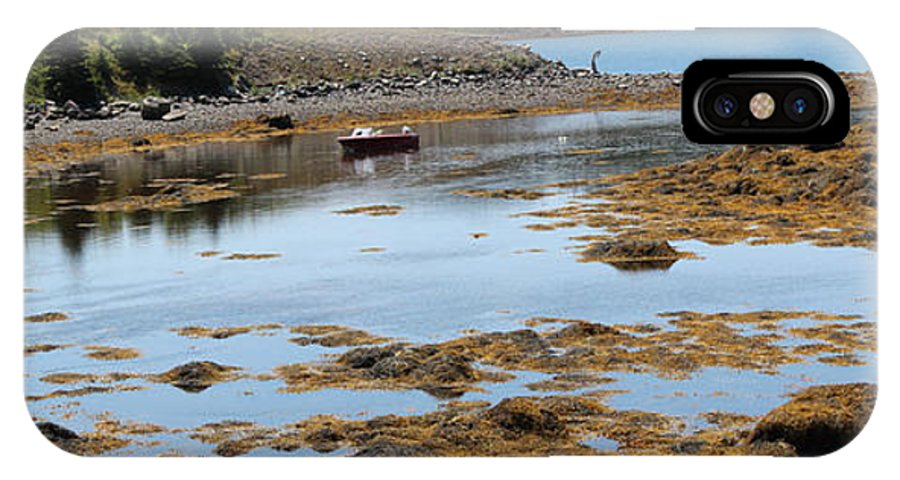 Red Flat IPhone X Case featuring the photograph Red Flat At Low Tide by Barbara Griffin