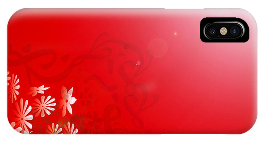 Art IPhone X Case featuring the photograph Red Floral Dream by Linda Galok