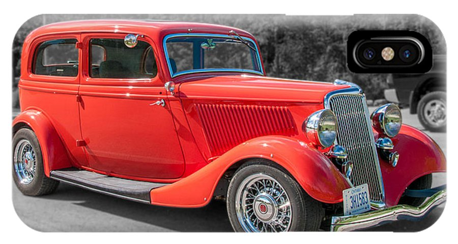 Antique Ford IPhone X Case featuring the photograph Red Ford 3d21740 by Guy Whiteley