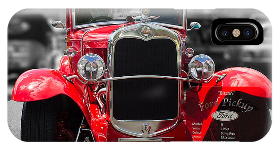 Red IPhone X Case featuring the photograph Red Ford Ute by Michael Podesta