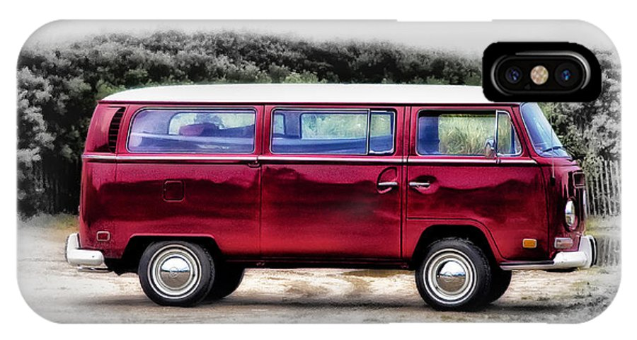 Red IPhone X Case featuring the photograph Red Microbus by Bill Cannon