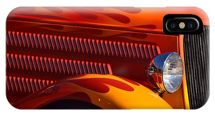 IPhone X Case featuring the photograph Red Orange And Yellow Hotrod by Dean Ferreira