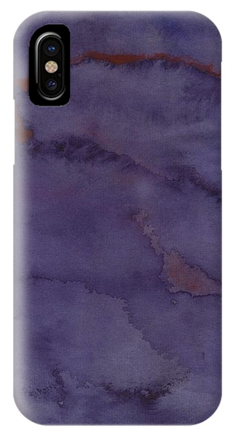Abstract IPhone X / XS Case featuring the painting Red Ribbon by Thomas Chasm
