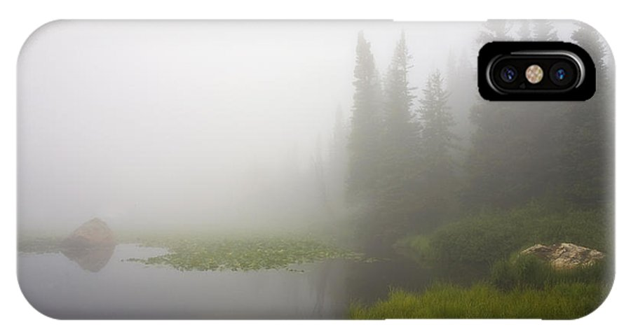 Fog IPhone X Case featuring the photograph Red Rock Lake And Fog by Morris McClung