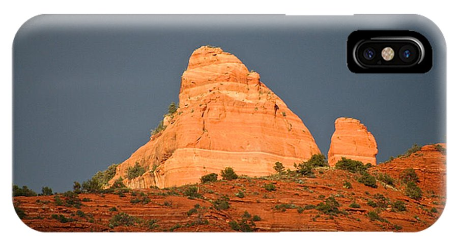 Sedona IPhone X Case featuring the photograph Red Rock Rising by Susan Herber