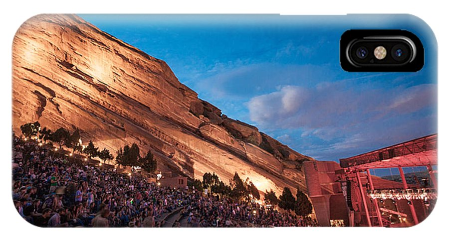 Red Rocks IPhone X Case featuring the photograph Red Rocks Sunset by Rick Machle