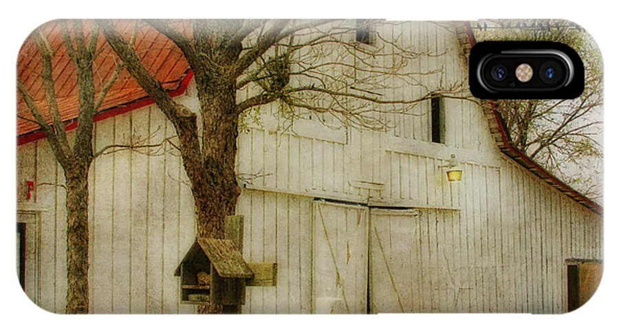 Barn IPhone X Case featuring the photograph Red Roof Barn by Joan Bertucci