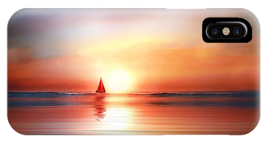 Sail IPhone X Case featuring the photograph Red Sails by Stephen Warren