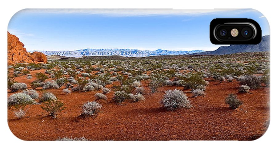 Desert IPhone X Case featuring the photograph Red Sand In The Mojave by Rita Mueller