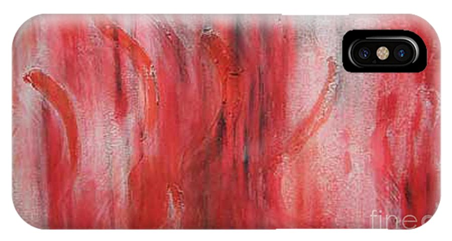 Abstract IPhone X Case featuring the painting Red Sea by Silvana Abel