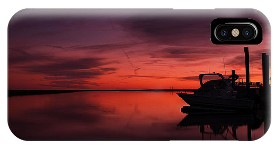 Sunset IPhone X Case featuring the photograph Red Skies Over Georgia by Allen Gresham
