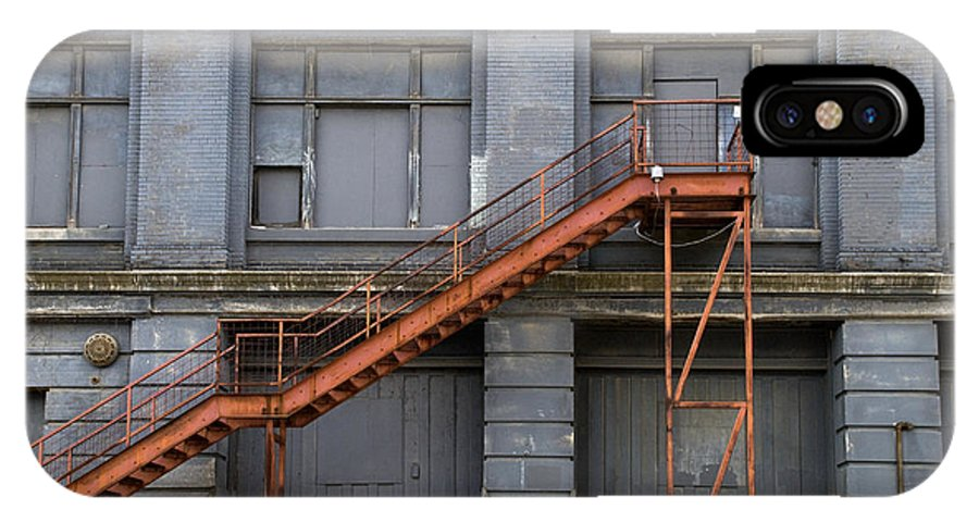 Stairs IPhone X Case featuring the photograph Red Staircase by Jessica Wakefield