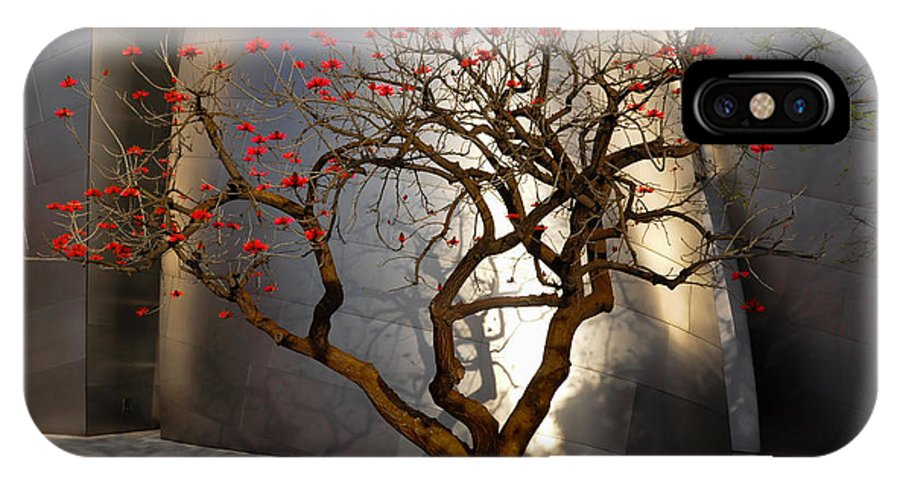 Red Tree IPhone X Case featuring the photograph Red Tree by Gandz Photography