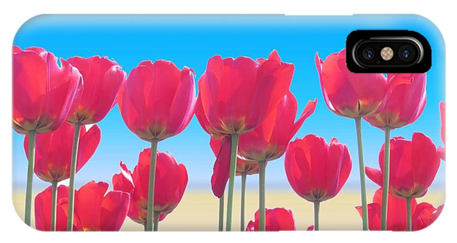 Tulips IPhone X Case featuring the photograph Red Tulips by Scott Cameron