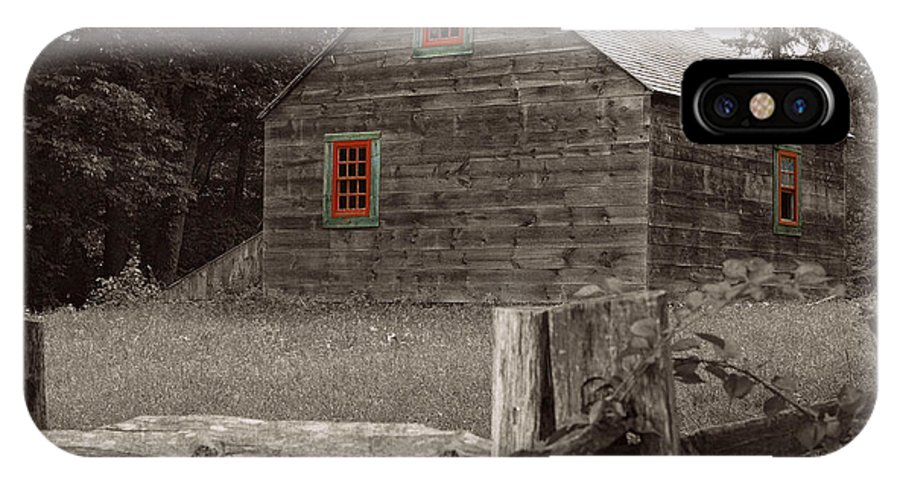 Rural IPhone X Case featuring the photograph Red Windows by Bruce Carpenter