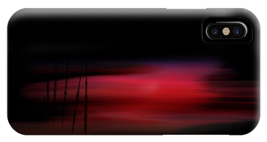 Scene IPhone X Case featuring the painting Reddish Serene by Len YewHeng