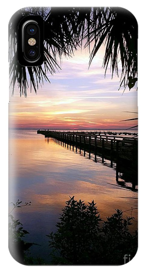 Sunrise IPhone X Case featuring the photograph Redemption Sunrise II by Space Coast Skies