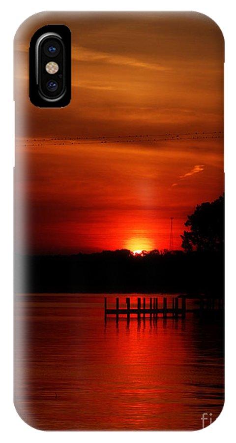 IPhone X Case featuring the photograph Redsky by Scott B Bennett