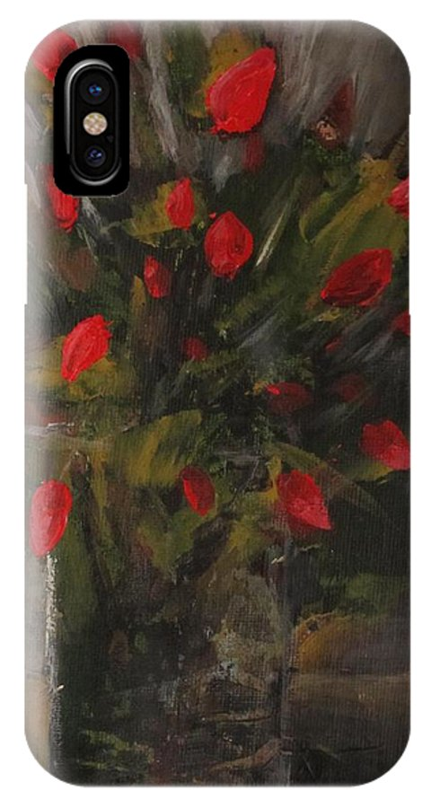 Floral IPhone X Case featuring the painting Refined. by Christina Glaser