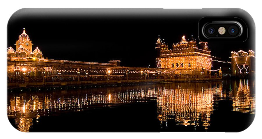 Golden Temple IPhone X Case featuring the photograph Reflected Golden Temple by Devinder Sangha