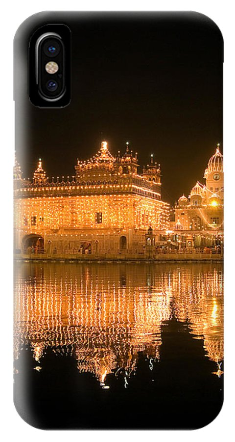 Golden Temple IPhone X Case featuring the photograph Reflected Portrait by Devinder Sangha