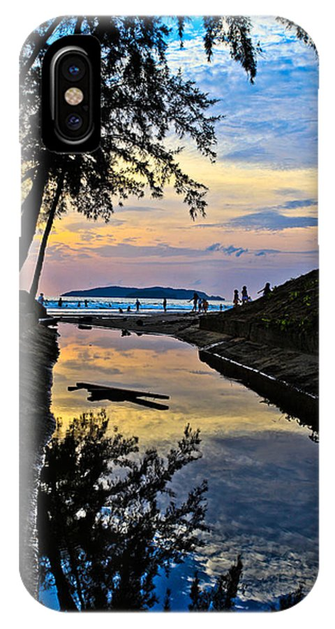 Landscape IPhone X Case featuring the photograph Reflection by Lawrence Chung