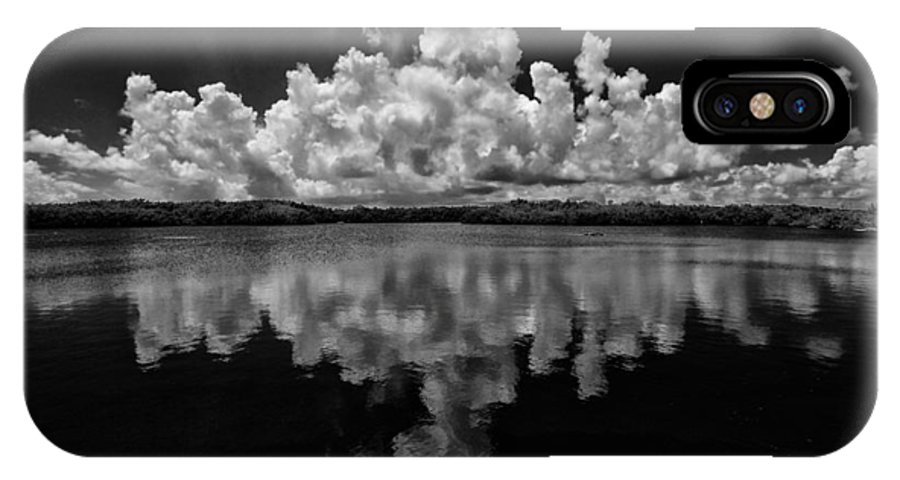 Clouds IPhone X Case featuring the photograph Reflection Of Clouds by Kevin Cable
