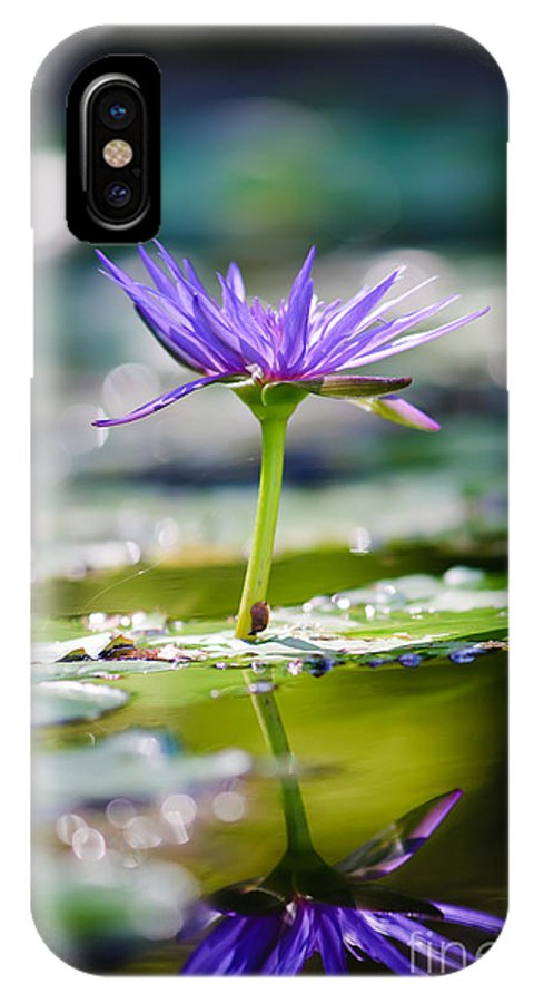 Flower IPhone X Case featuring the photograph Reflection Of Life by Charles Dobbs