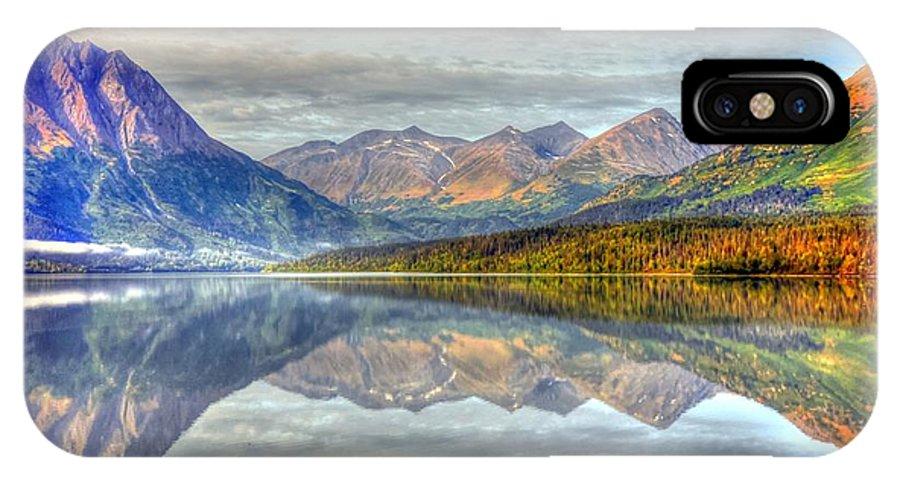 Alaska IPhone X Case featuring the photograph Reflections Along The Seward Highway - Alaska by Bruce Friedman