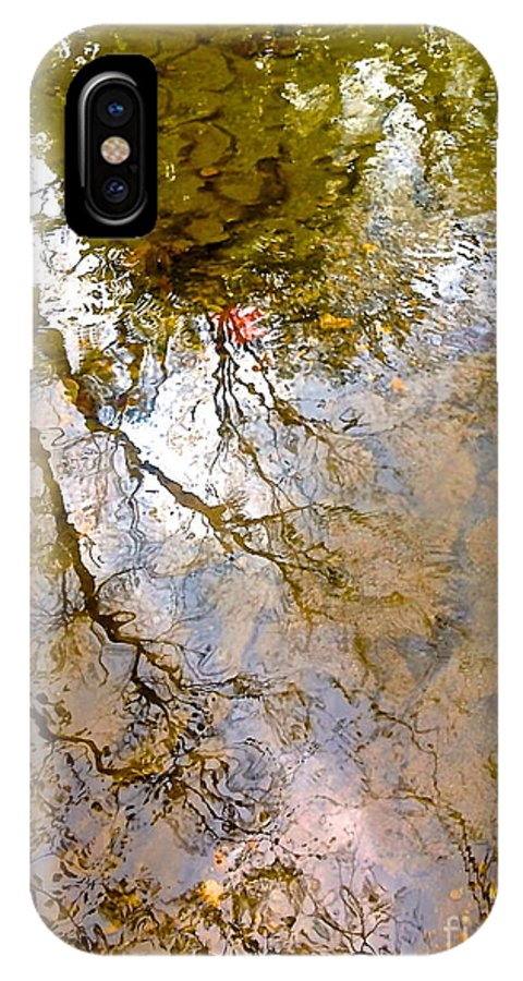 Water Prints IPhone X Case featuring the photograph Reflections by Delona Seserman