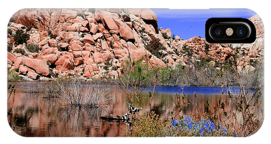 Barker Dam IPhone X Case featuring the photograph Reflections In Barker Dam By Diana Sainz by Diana Raquel Sainz