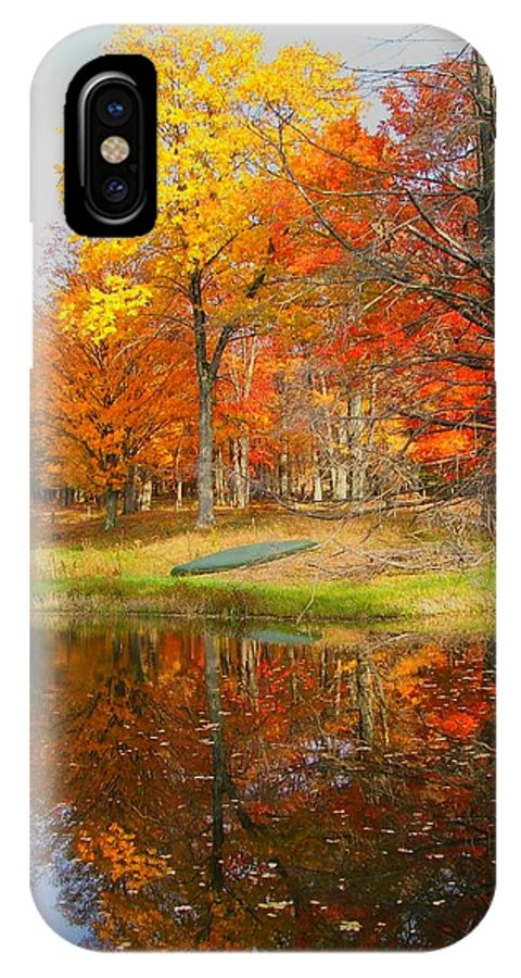 Fall IPhone X Case featuring the photograph Reflections Of Autumn by Judy Waller