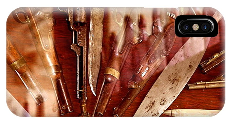 Guns IPhone X Case featuring the photograph Reflections Of The Wild West by Michael Cinnamond