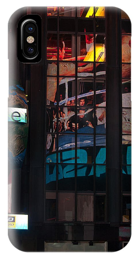 """""""new York City"""" IPhone X Case featuring the photograph Reflective Art by Paul Mangold"""