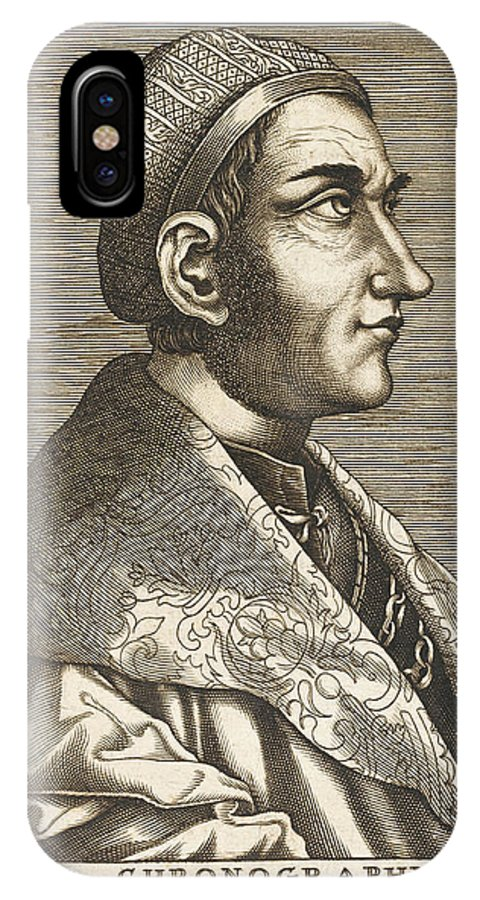 Regino IPhone X Case featuring the drawing Regino Von Prum Also Known As Reginon by Mary Evans Picture Library